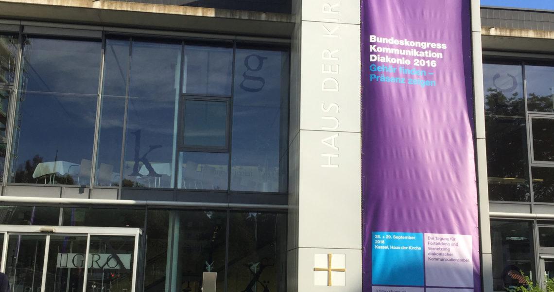 Bundeskongress Kommunikation der Diakonie im Haus der Kirche in Kassel 2016