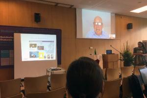 Ein Worksho fand am ersten Tag per Skype-Schaltung statt