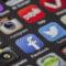 mehrere Symbole von social networks